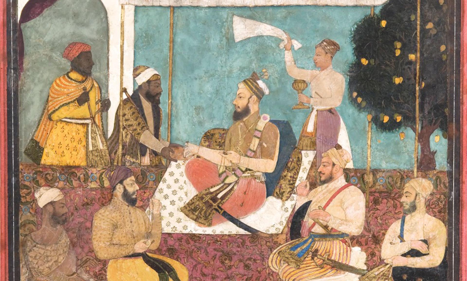 Muhammad Adil Shah Selects a Jewel, 1990.443