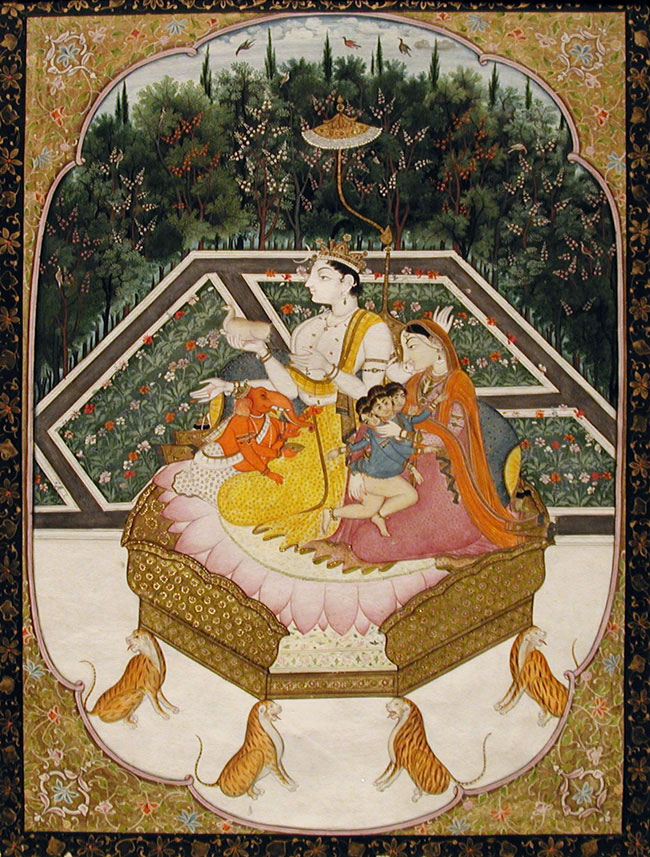 Shiva with his family enthroned, Edwin Binney 3rd Collection, 1990.1142